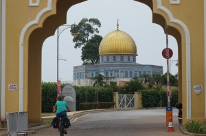 "Entering the deserted Muslim ""edutainment"" park in Terengganu."
