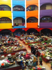 The Central Bazaar in Kota Bahru- note the many closed shops in the upstairs region