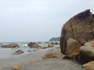 The beach outside of Kuantan.